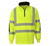 SWEAT-SHIRT B308 JAUNE/MARINE T S à 3XL